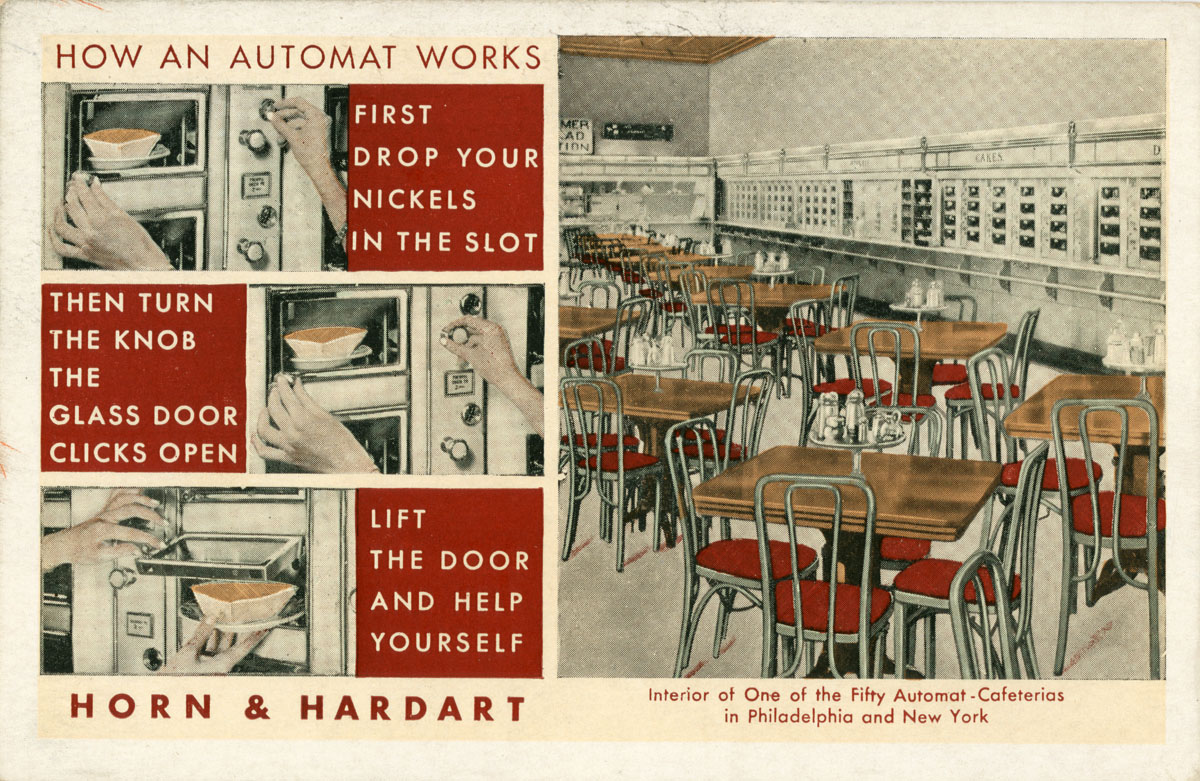 horn and hardart automat more automatic horn the automat horn hardart ...